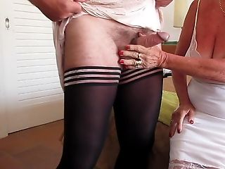 Wanking In Our Nylon Slips(wifey And Me)