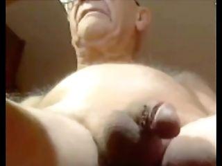 Grand-pa Jizm On Webcam
