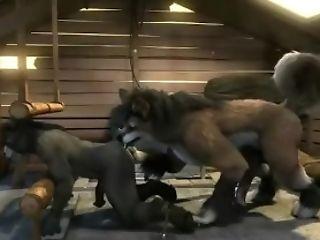 Animated Donkey Fucked By Wolf