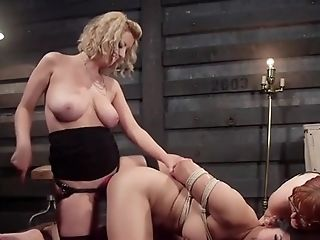 Big-chested Asian Sapphic Rectal Threesome Fuck
