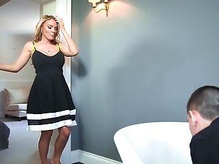Stud Has To Clean Bathtub Or Satiate Two Top-class Porno Divas