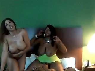Shemale Big Booty Adult Movie Stars Bianca & Trina Fucks Fresh Meat!