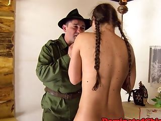 Cockriding Servant Predominated By Old Male Domination