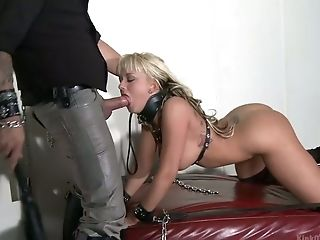 Supah Sexy Big Tittied Blonde Briana Blair Chooses Erotic Bondage & Discipline Hook-up