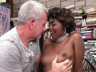 Dark-hued Darling Daizy Cooper Fucked By A Milky Dick In A Library