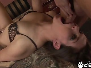 Trampy Brown-haired Bobbi Starr Extreme Face Fucked And Gag