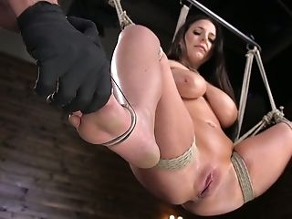 Big Jugged Sexy Nymphomaniac Angela Milky Gets Tied Up And Hard Masturbated