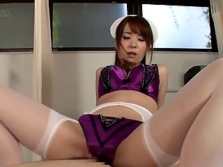 Nurse In A Sexy Purple Satin Underwear Set Grinds On A Dick