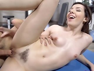 Sport Chick Ember Stone Is Fucked By Horny Coach At The Gym