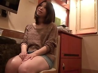 Japanese Honey Pleases A Neighbor By Drooling On His Dick