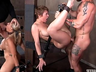 Sub Tramps In A Black Room Four-way Take A Hard Fucking