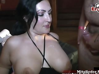 German Big Natural Tits Housewife Private Internal Cumshot Soiree