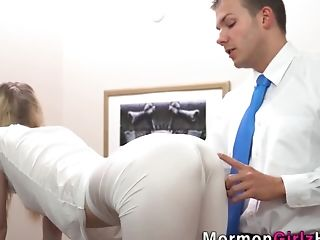 Blonde Mormon Nubile Jizzed