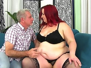 Ginger-haired Bbw Stunner Phoenix Gets Savagely Fucked From Behind