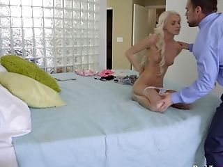 Nice Petite Blonde Emma Hix Is Spanked And Fucked By Stepparent