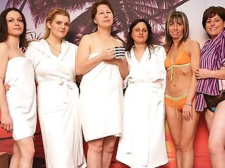 Take A Peek At These Lovely Matures Ladies At The Sauna
