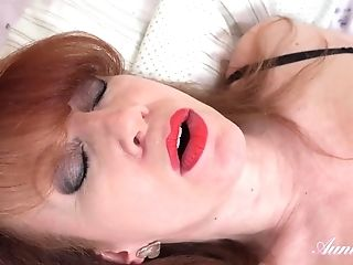 Red-haired Auntie In Solo Act - Horny Gilf Solo