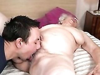 This Granny Loves It When Her Old Coochie Is Getting Eaten Out By A Youthfull Man