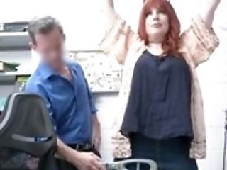 Man Has To Observe The Security Officer Fucking His Huge-chested Stepmom