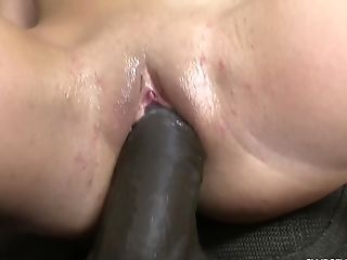 Petite Lengthy Haired Nubile Cutie Pounded By Two Black Dudes Gonzo