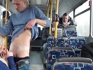 Petite Blonde Stunner Lindsey Olsen Gets Rammed In Public Bus