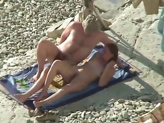 Duo Share Hot Moments On Nude Beach
