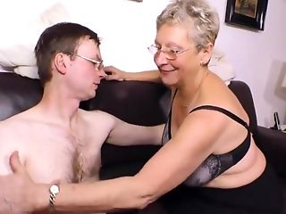 Horny Granny Wants His Youthful Pulsing Dick