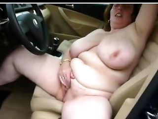 Buxom Masturbating In The Car