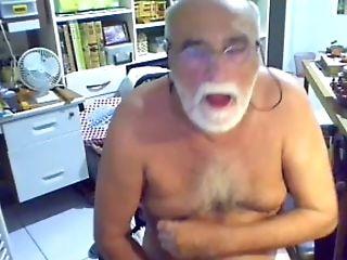 Grandfather Jizm On Webcam