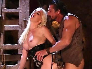 Medieval Fucking Session With Towheaded Whore In A Black Corset