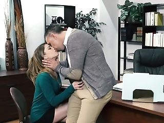 Student Gal Gives A Head To Her Instructor And Rails His Dick