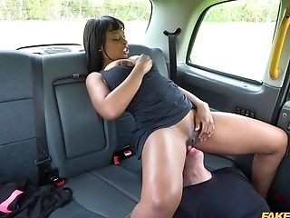 Black Spinner Lola Marie Tests Cabbies Stamina