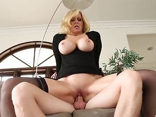Blonde Cougar Julia Ann Loving A Big Youthful Pulsating Manhood