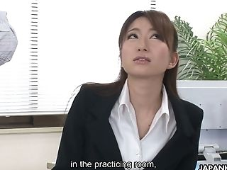 Japanese Assistant In Ripped Pantyhose Melia Rika Is Fucked In The Office