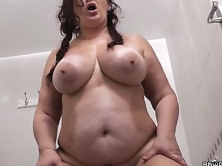 Big Tits Bbw Rails His Dick In The Restroom