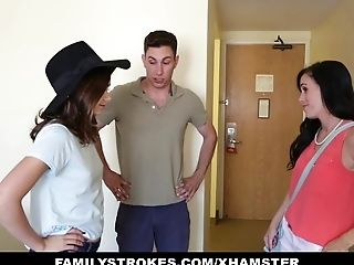 Familystrokes - Motel Room Joy With Step-sis