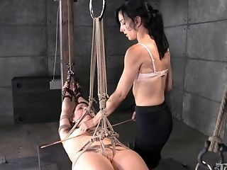 Sexy Stunner Cici Rhodes Tied Up And Penalized By Elise Graves