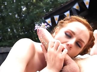 Oktoberfest Is The Best Time For Hook-up With Horny Crimson-haired Waitress