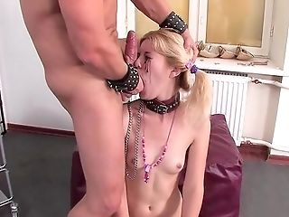 Blonde Finishes Massive Fuck Have Fun Obedient And Facialized