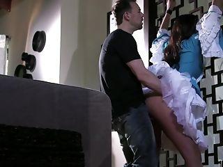 Erik Everhard Adores When Her Friend Jizm On Her Butt After Hard Orgy