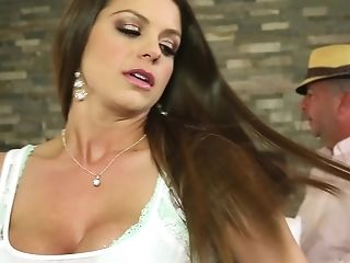 All Crevasses Of Curvy Brooklyn Chase Crammed With Numerous Meatpipes And Jizz