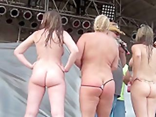 Abate Of Iowa 2015 Thursday Finalist Hot Chick Disrobing Contest At The Freedom Rally - Nebraskacoeds
