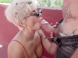 Amaranta Hank Gets A Rough Lovemaking And Deep Facehole Session With A Fat Beef Whistle