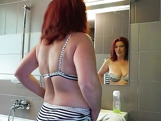 Matures Ginger-haired Cougar Elonka Pounds Her Cunny With A Faux-cock Solo