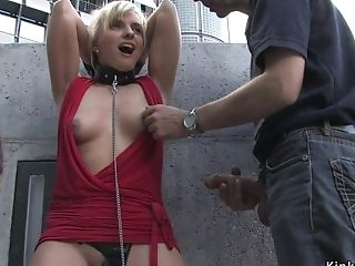 Blondie Groped And Banged Outdoor