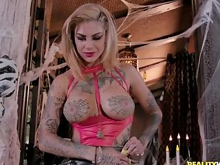 Tattooed Bi-atch Bonnie Rotten Pounded Gonzo In Her Caboose And Vagina