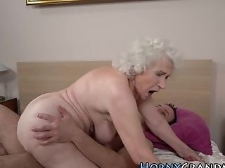 Grandmas Face Spunked On