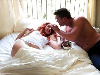 Uber-sexy Dude Pleases Amarna Miller By Drilling Her Hairy Twat