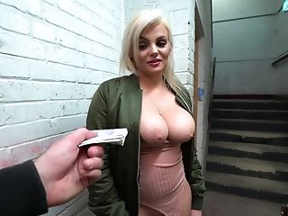 Ricky Stone Fucked Katy Jayne On The Floor Stairwell