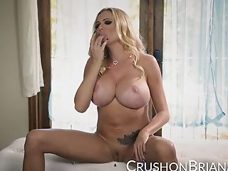 Buxom Blonde Briana Banks Finger Fucks Her Poon